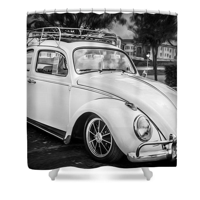 1960 Volkswagen Beetle VW Bug   BW by Rich Franco