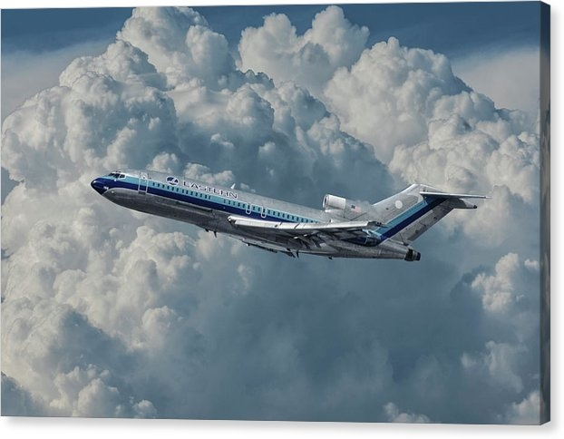 Eastern Airlines 727 with Billowing Clouds by Erik Simonsen