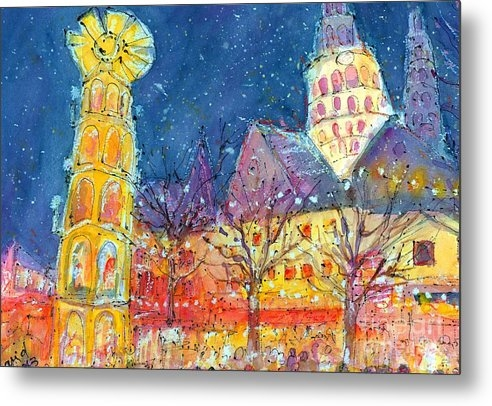 Christmas Market in Mainz by Ingrid  Becker