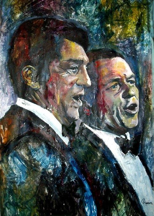 FRANK SINATRA AND DEAN MARTIN by MARCELO NEIRA