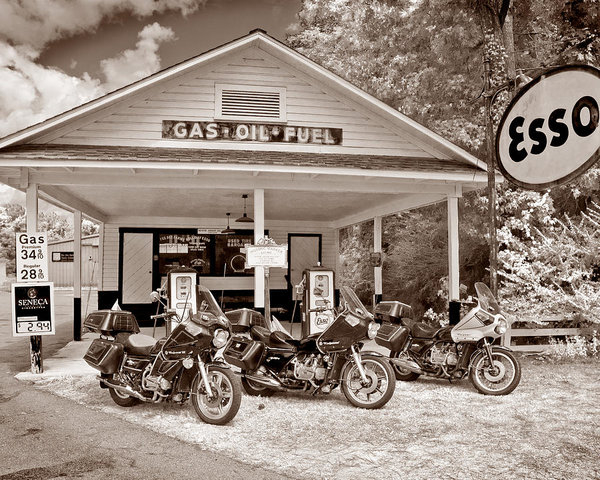 Old Goldwing Motorcycles by Barry Monaco