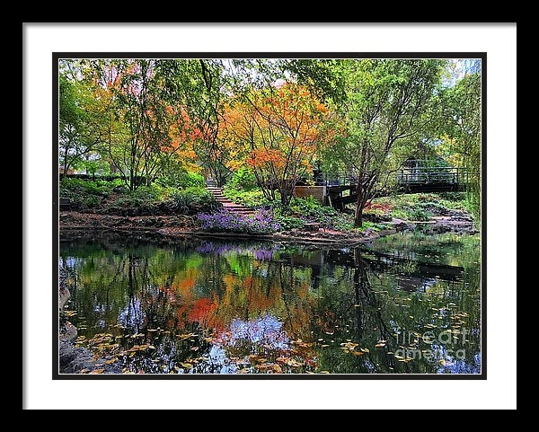 REFLECTIONS IN COLOR AT LAFAYETTE PARK by Debbie Fenelon