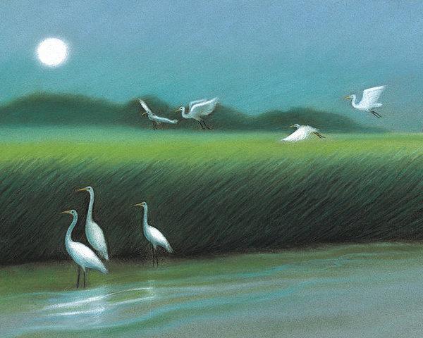 Sullivan's Island Marsh at Night by Nina Uccello