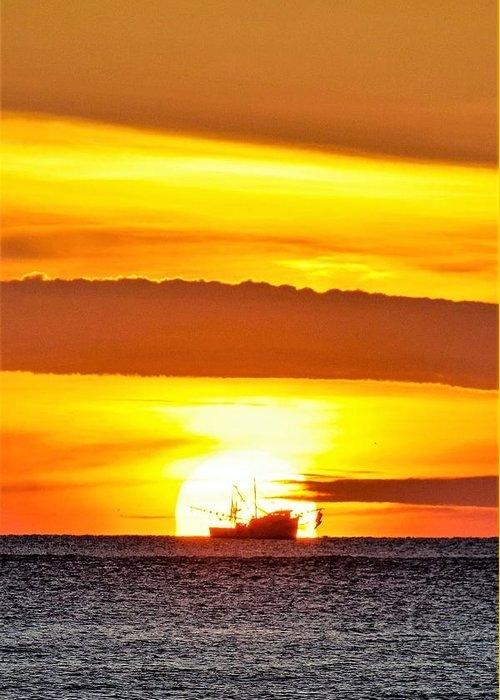 Shrimp Boat at Sunrise by Mary Ann Artz
