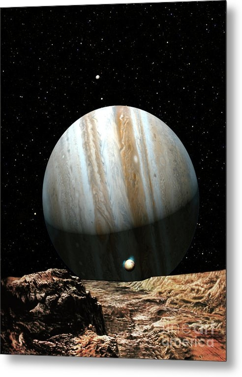 Jupiter Seen From Europa by Don Dixon