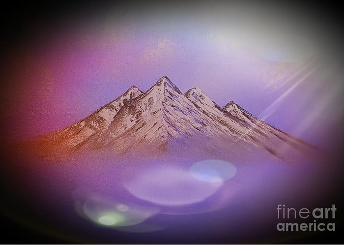 Up above so high colourful dark subtle sunray  by Angela Whitehouse