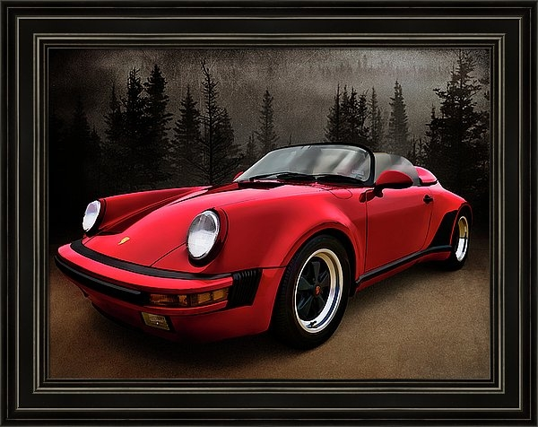 Black Forest - Red Speedster by Douglas Pittman