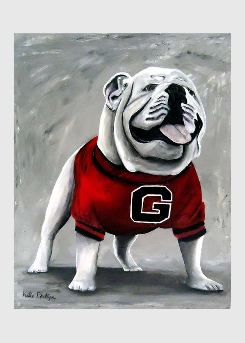 UGA Bulldog College Mascot Dawg by Katie Phillips