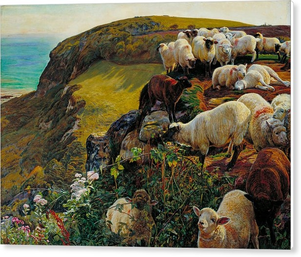 Our English Coasts or Strayed Sheep by William Holman Hunt