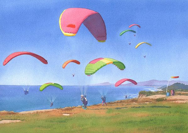 Torrey Pines Gliderport by Mary Helmreich