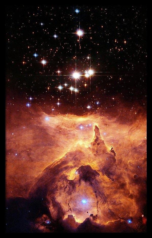 Star Cluster Pismis 24 Above Ngc 6357 by J. Maiz Apellaniz, Iaanasaesastsci
