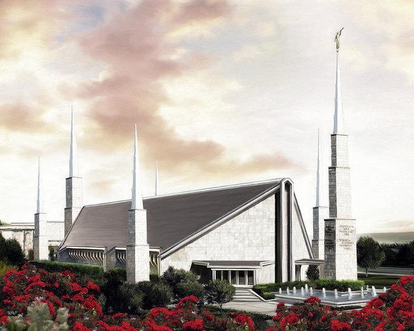 Dallas Texas Temple by Brent Borup