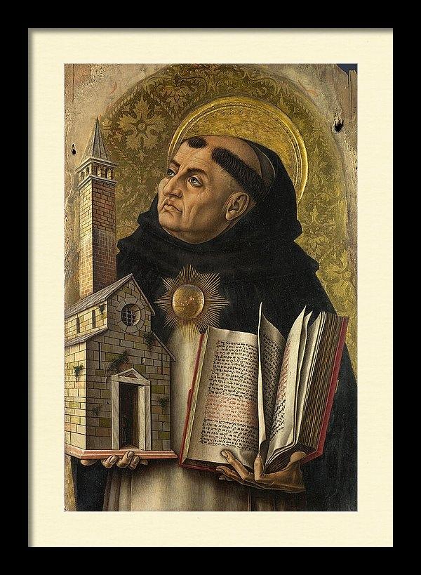 Saint Thomas Aquinas by Carlo Crivelli