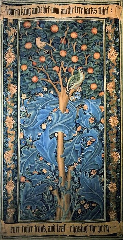 Woodpecker Tapestry by William Morris