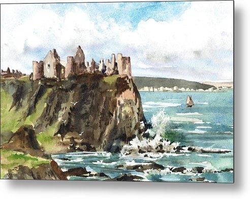 Dunluce Castle Antrim N I by Val Byrne
