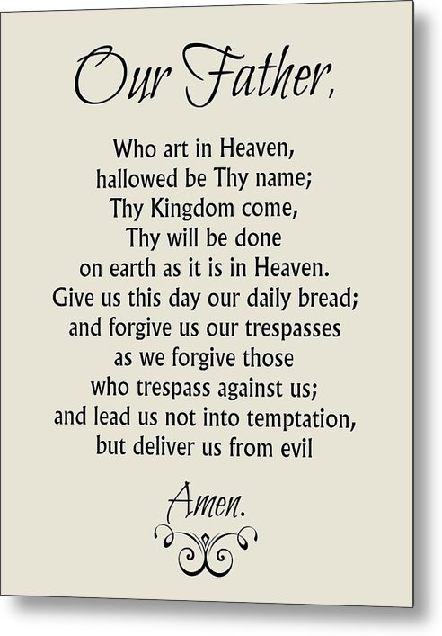 Our Father Prayer - Catholic Lord's Prayer by Classically Printed
