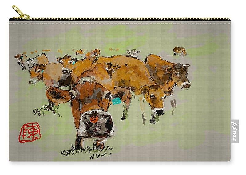 Cute cows by Debbi Saccomanno Chan