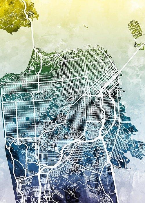 San Francisco City Street Map by Michael Tompsett