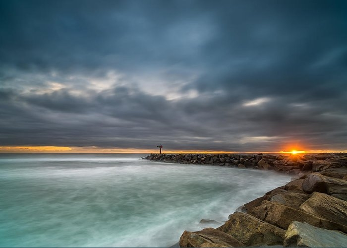 Harbor Jetty Sunset by Larry Marshall