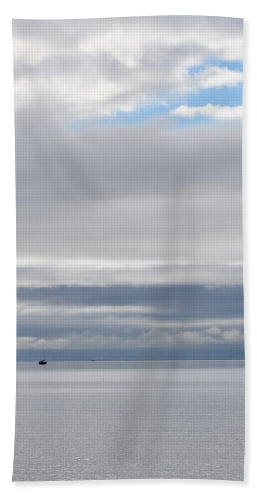 Boat in the Bay Clouds by Stuart Hicks