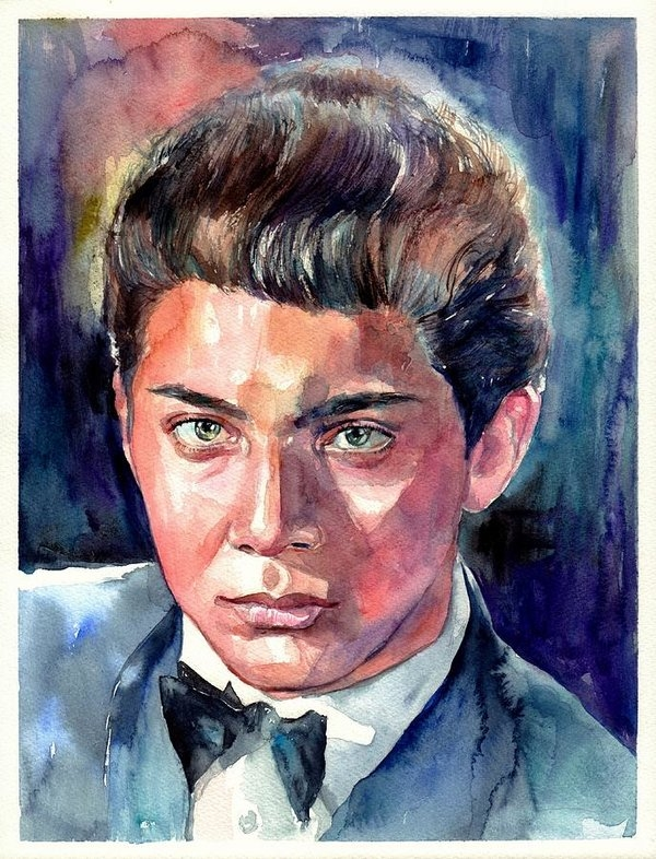 Paul Anka young portrait by Suzann's Art