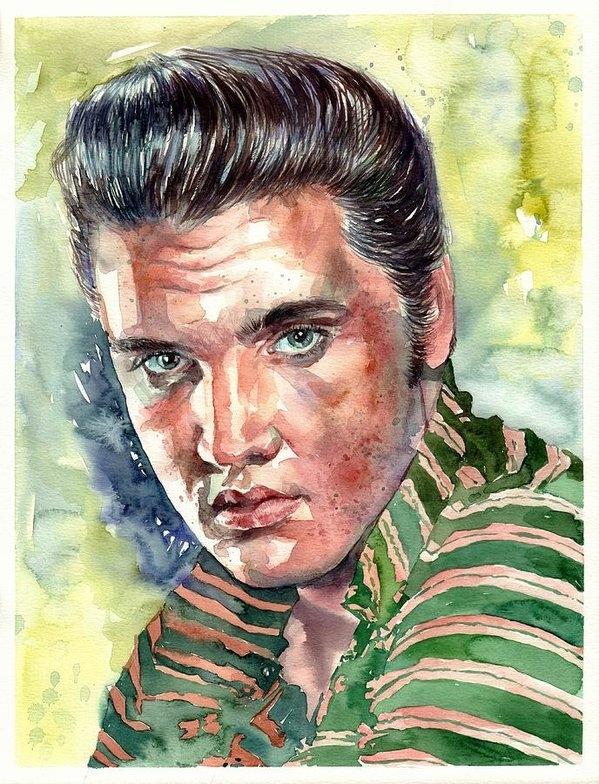 Elvis Presley portrait by Suzann Sines
