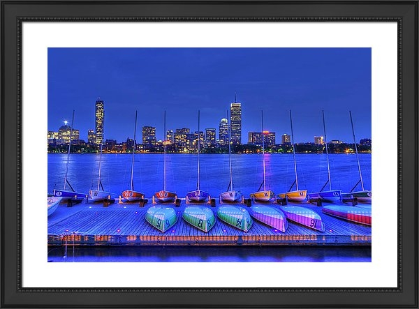 Boston Skyline from MIT Sailing Pavilion Framed Print