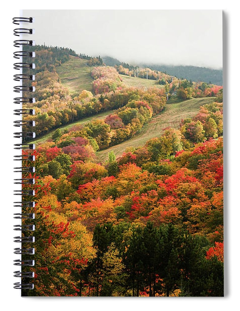 Cannon Mountain fall foliage Spiral Notebook