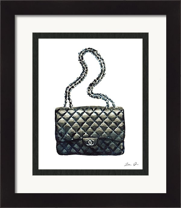 ddea1728bf2a6f Chanel Quilted Handbag Classic Watercolor Fashion Illustration Coco Quotes  · Laura Row