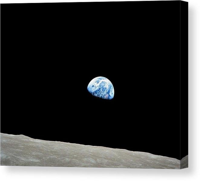 Earthrise Over Moon, Apollo 8 by Nasa