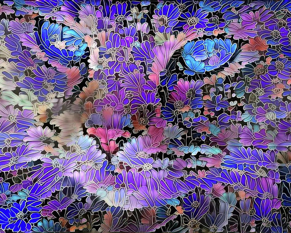 Flower Cat 2 by Peggy Collins