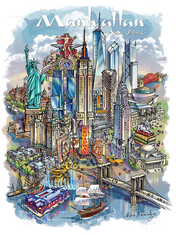 NEW YORK THEME 1 by Maria Rabinky