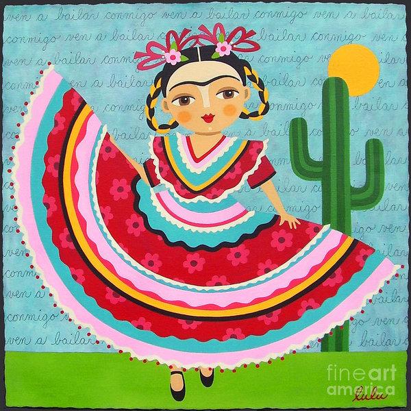 Frida Kahlo in Traditional Dress by LuLu Mypinkturtle
