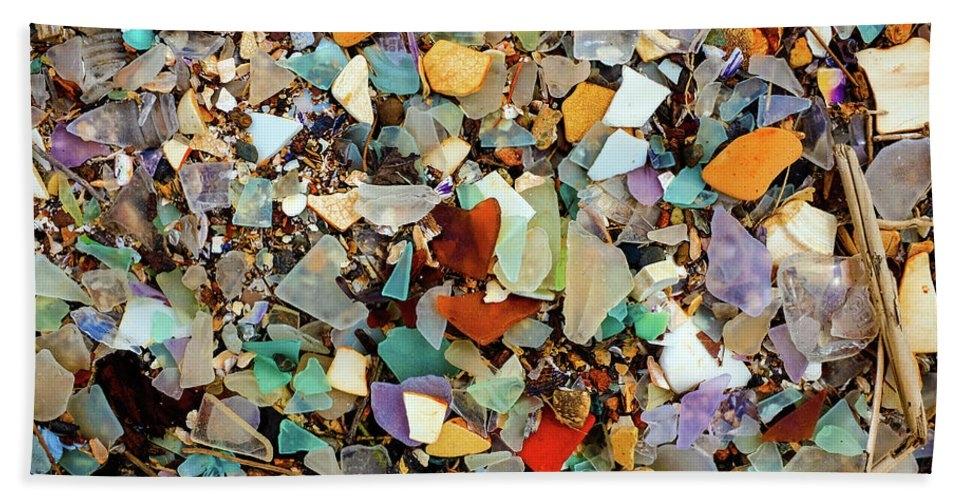 Sea Glass Beach Detail Hayward Regional Shoreline Park by Kathy Anselmo