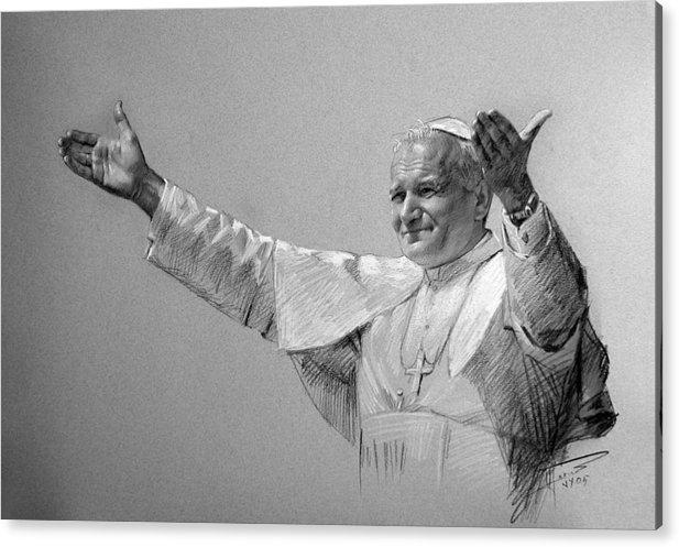 POPE JOHN PAUL II bw by Ylli Haruni