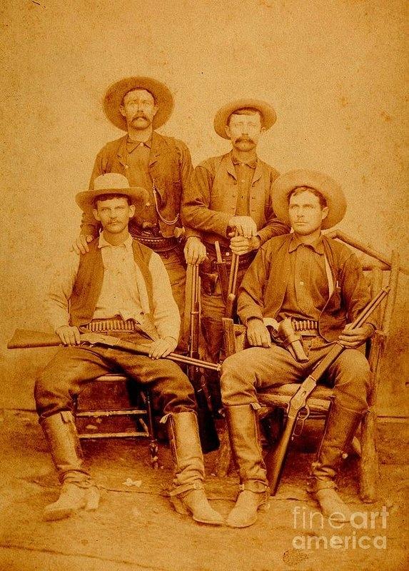 Texas Rangers at Rio Grande City Texas circa 1885 by Peter Ogden Gallery
