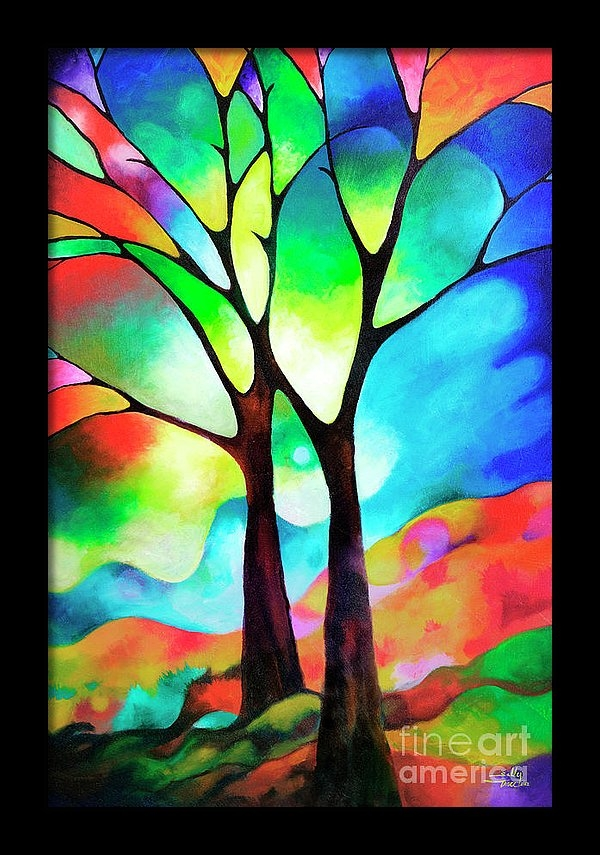 Two Trees by Sally Trace