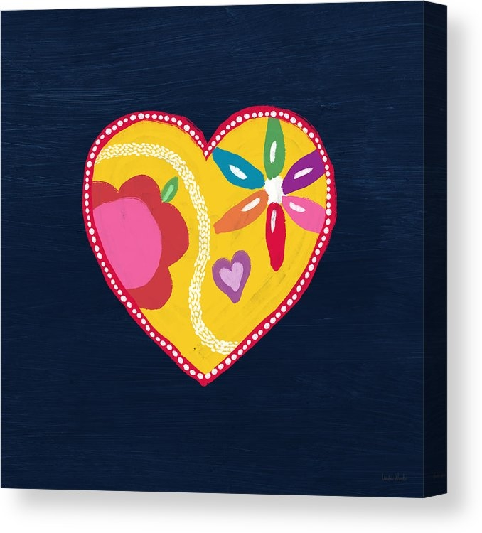 Corazon 4- Art by Linda Woods Canvas Print