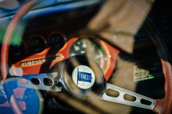 1972 Lancia Fulvia Steering Wheel Emblem -0435c by Jill Reger