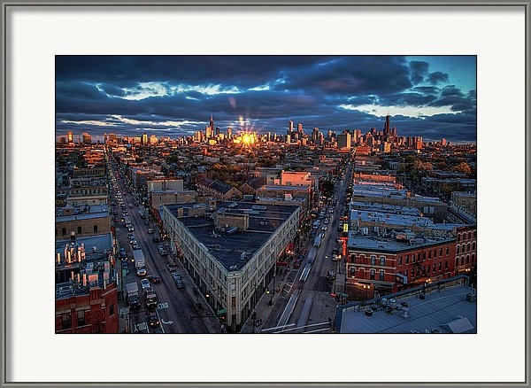 Chicago Reflection Burst by Raf Winterpacht