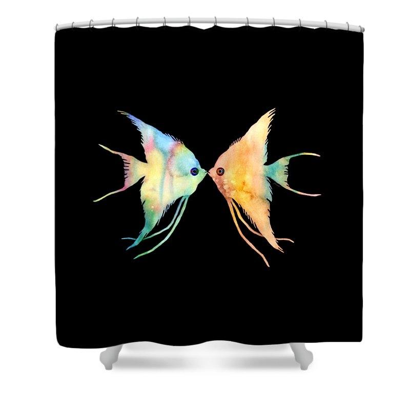 Angelfish Kissing by Hailey E Herrera