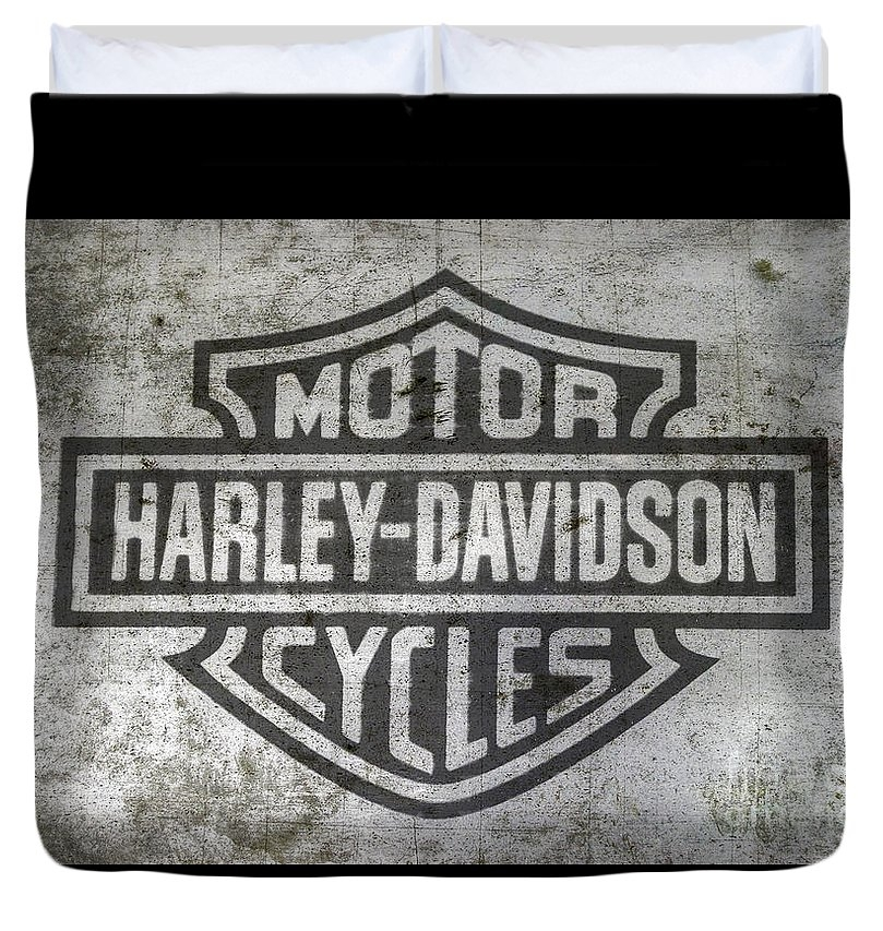 Harley Davidson Logo on Metal by Randy Steele
