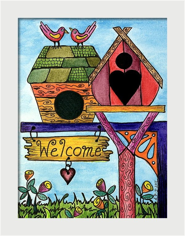 Birds are Welcome by Lisa Frances Judd