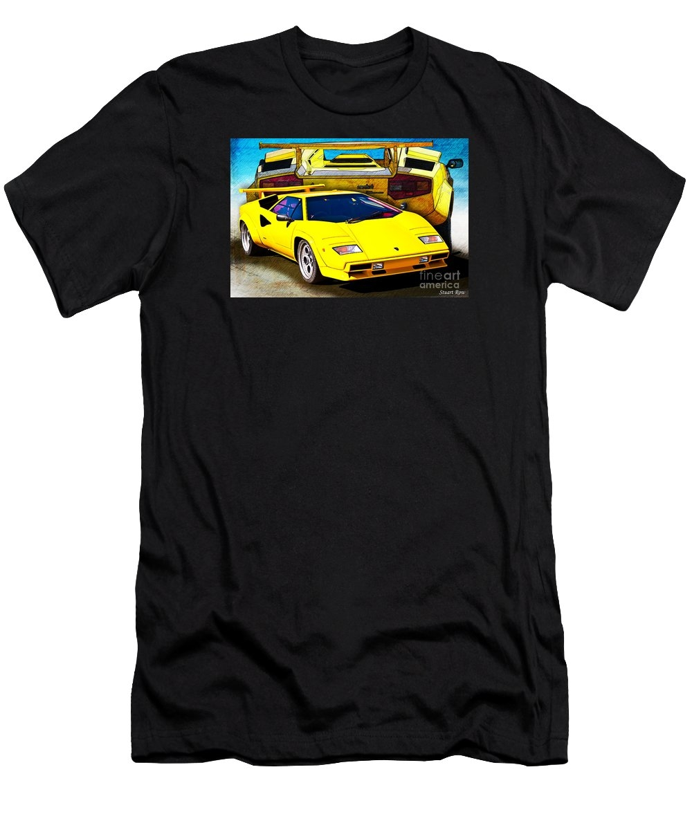 Yellow Lamborghini Countach by Stuart Row