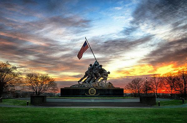 Marine Corps War Memorial by Daniel Potter