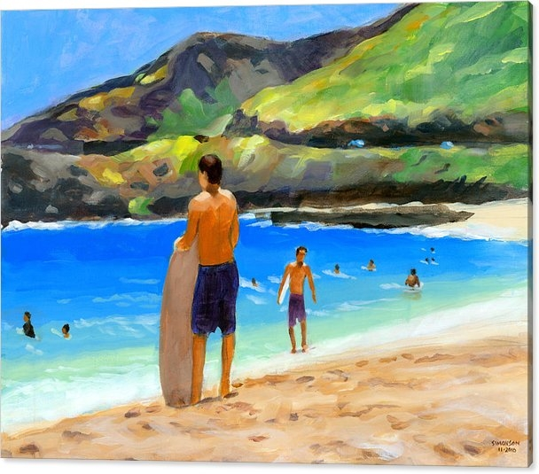 At Sandy Beach by Douglas Simonson