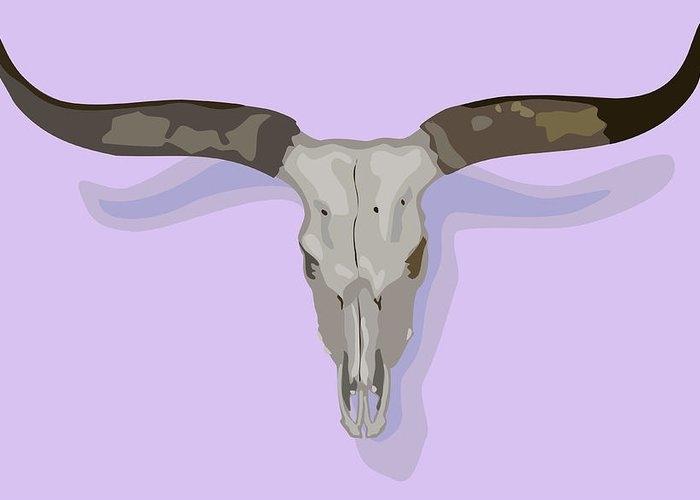 Longhorn Skull by Robert Bissett