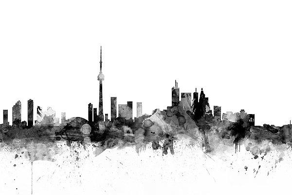 Michael Tompsett - Toronto Canada Skyline Print
