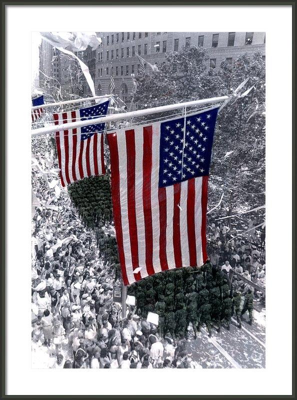 Cindy Roesinger - Desert Storm Parade  NYC Print