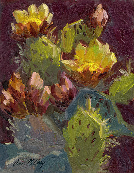 Diane McClary - Cactus in Bloom 1 Print